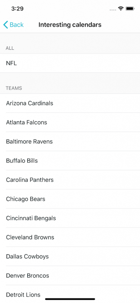 Pick your favourite NFL team and get the season schedule 2019