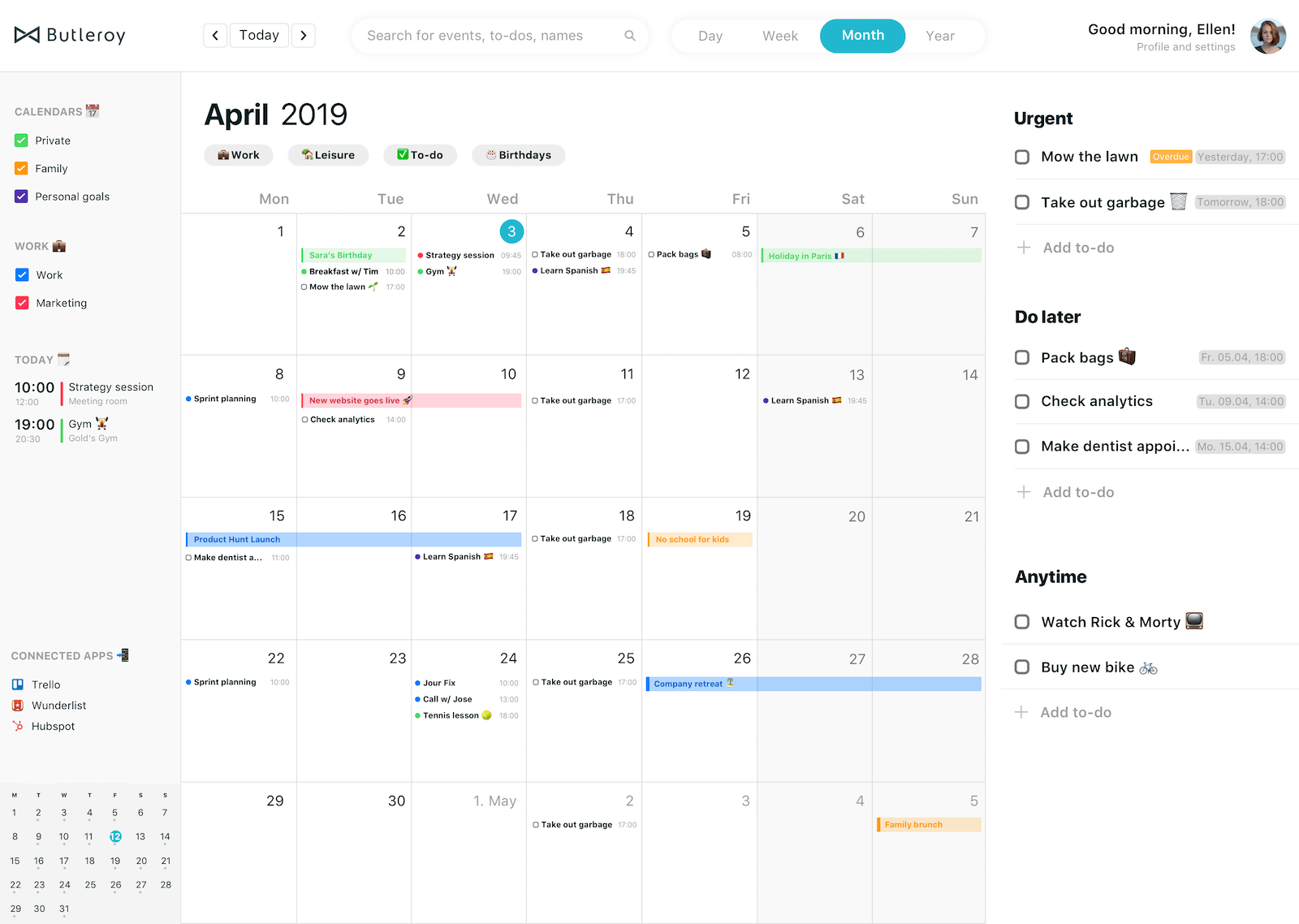Manage to-dos and calendars on your desktop