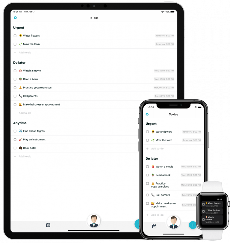 Butleroy sync for all devices, iPhone iPad and Apple Watch