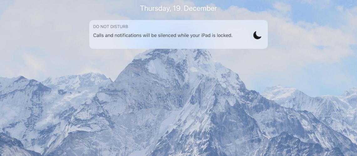 Do Not Disturb Mode on iPad
